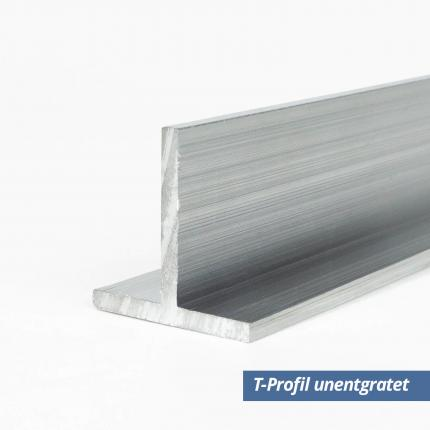 Aluminium T-Profil 40x40x2 mm unetgratet