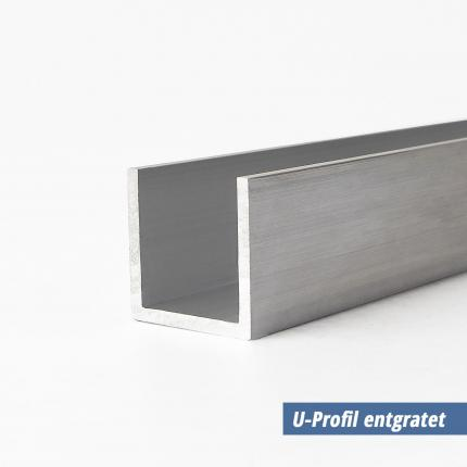 Alu U- profil 10x20x10x2 mm entgratet