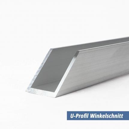 Bekannt U-Profil aus Aluminium 20x60x20x2 mm NH07