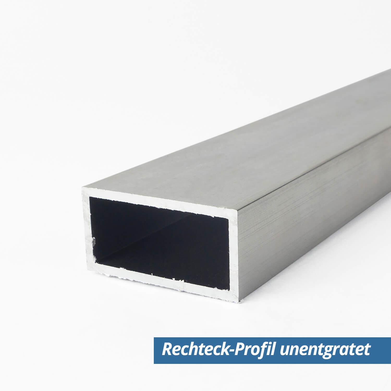 Aluminium Formrohr  30 x 20 x 2,0 mm je m ± 5mm Alu Rohr rechteckig