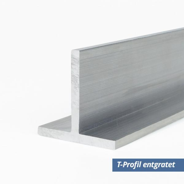 Aluminium T-Profil 40x40x2 mm entgratet