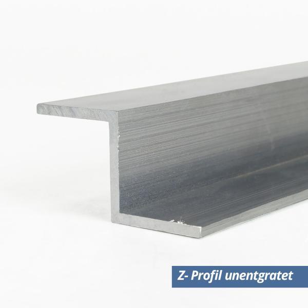 Aluminium Z-Profil Eloxiert Silber Matt 30x30x30x3mm 2000mm